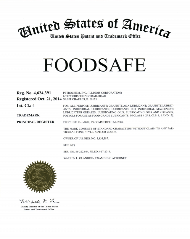 FOODSAFE registered trademark